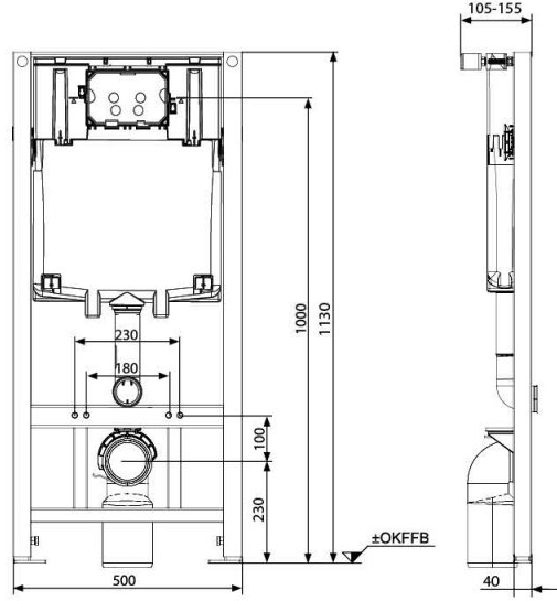 Pachet Complet Sistem WC Suspendat Kolo Idol - Gata de Montaj - Cadru fixare + Rezervor Ingropat, Clapeta Alba, Vas WC si Capac WC [2]
