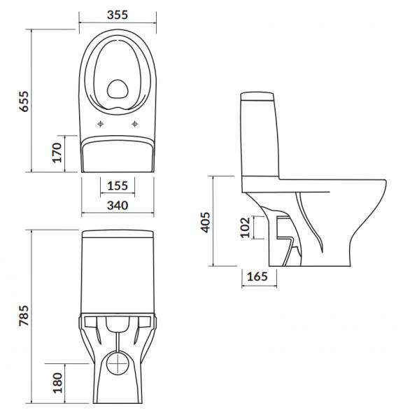 Pachet Complet Toaleta Cersanit Moduo CleanON - Vas WC, Rezervor, Armatura, Capac Softclose, Set de Fixare 1