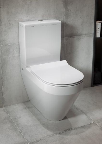 Pachet Complet Toaleta Cersanit Crea Oval - Vas WC, Rezervor, Armatura, Capac Slim & Soft, Set de Fixare 4