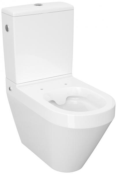 Pachet Complet Toaleta Cersanit Crea Oval - Vas WC, Rezervor, Armatura, Capac Slim & Soft, Set de Fixare 0