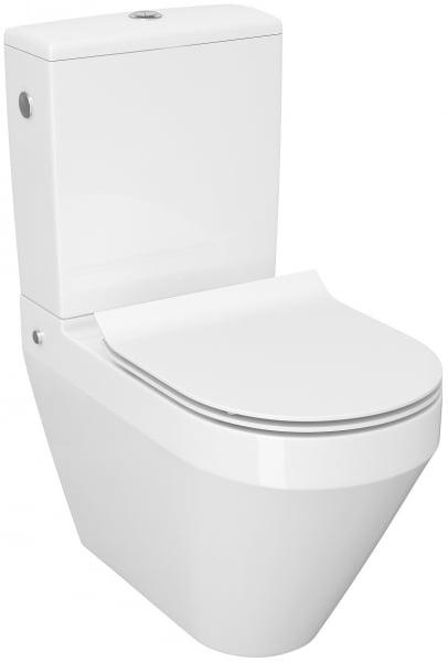 Pachet Complet Toaleta Cersanit Crea Oval - Vas WC, Rezervor, Armatura, Capac Slim & Soft, Set de Fixare [2]
