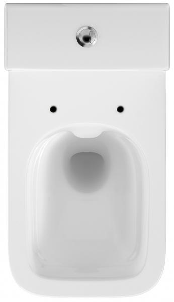 Pachet Complet Toaleta Cersanit Crea Rectangular - Vas WC, Rezervor, Armatura, Capac Slim & Soft, Set de Fixare [5]