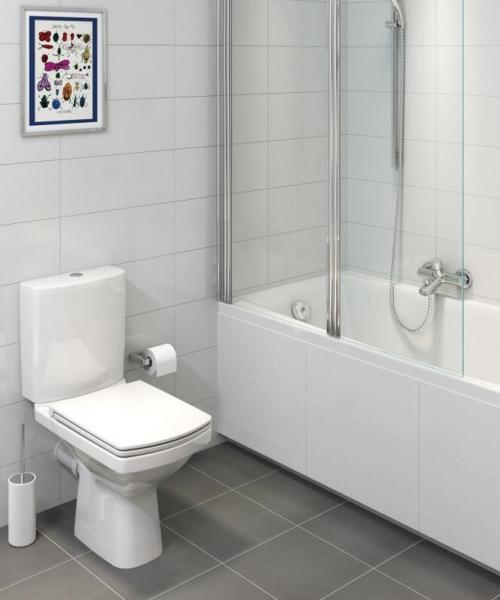 Pachet Complet Toaleta Cersanit Easy CleanON - Vas WC, Rezervor, Armatura, Capac Softclose, Set de Fixare 3
