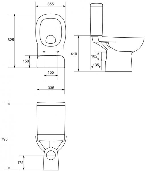 Pachet Complet Toaleta Cersanit Facile - Vas WC, Rezervor, Armatura, Capac, Set de Fixare [2]