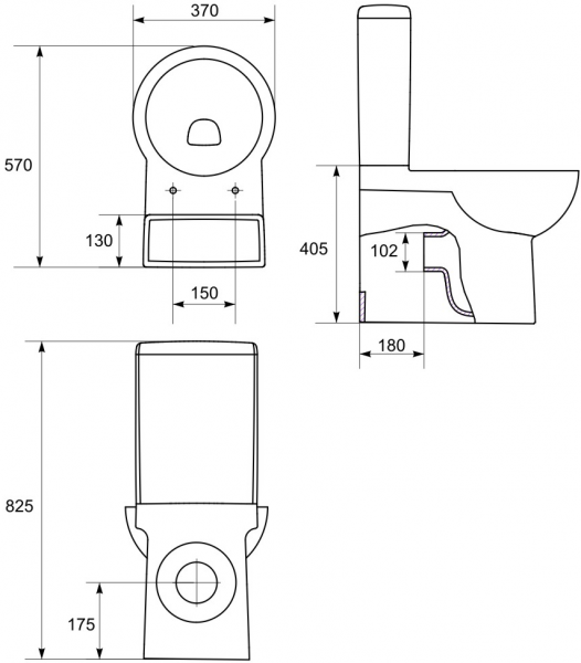 Pachet Complet Toaleta Cersanit Nano - Vas WC, Rezervor, Armatura, Capac Softclose, Set de Fixare 2