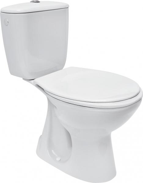 Pachet Complet Toaleta Cersanit President - Vas WC, Rezervor, Armatura, Capac, Set de Fixare - Model 2 0