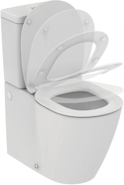 Pachet Complet Toaleta Ideal Standard Connect Aquablade Back-to-Wall - Vas WC, Rezervor, Armatura, Capac Softclose, Set de Fixare 0