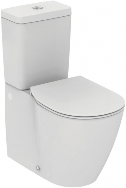 Pachet Complet Toaleta Ideal Standard Connect Back-to-Wall - Vas WC, Rezervor, Armatura, Capac Slim, Set de Fixare 0