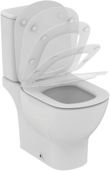 Pachet Complet Toaleta Ideal Standard Tesi Aquablade  - Vas WC, Rezervor, Armatura, Capac Slim Softclose, Set de Fixare [0]