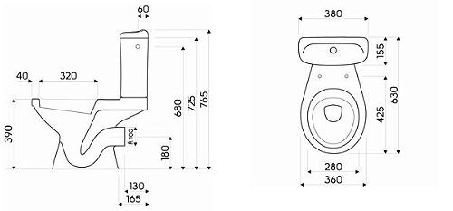 Pachet Complet Toaleta Kolo Idol - Vas WC, Rezervor, Armatura, Capac, Set de Fixare 2