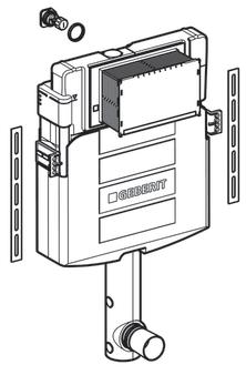 Rezervor incastrat Geberit Sigma UP320 - Pentru vase Back-to-Wall 1