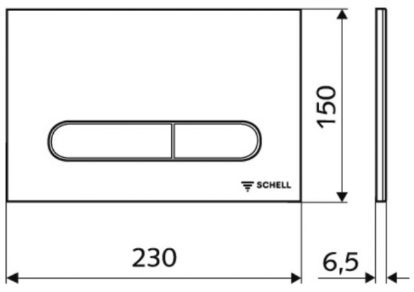 Rezervor incastrat Schell Montus - Include clapeta crom lucios 2