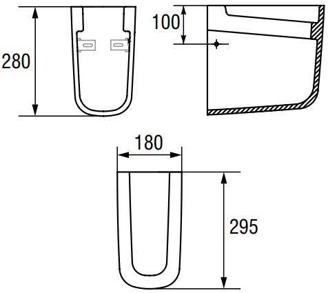 Semi-Piedestal Cersanit Facile 1