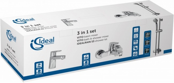 Set 3 in 1 Ideal Standard Vito 1