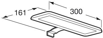 Set complet Roca Debba 600 - Lavoar + Mobilier + Oglinda + Lampa LED + Sifon - Wenge deschis 5
