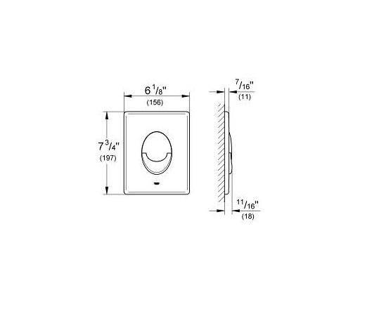 SET Rezervor incastrat Grohe Rapid SL - Include sistem fixare si clapeta crom lucios 5