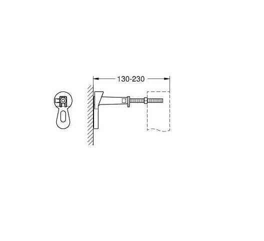 SET Rezervor incastrat Grohe Rapid SL - Include sistem fixare si clapeta crom lucios 6