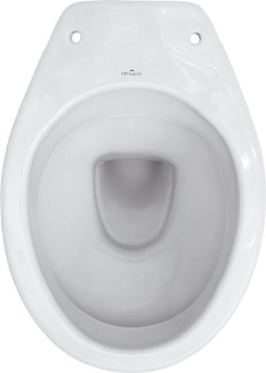 Vas WC pe pardoseala Cersanit President - Pentru rezervor la semi-inaltime - Scurgere laterala 1