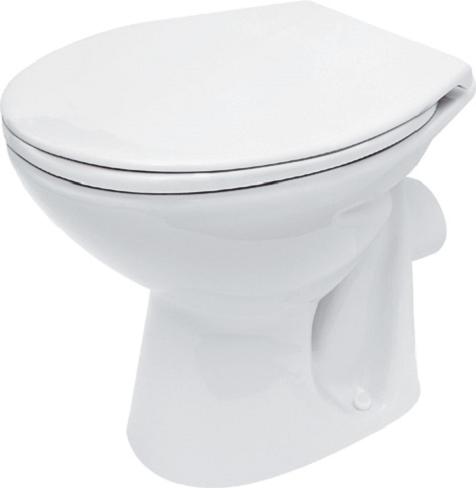 Vas WC pe pardoseala Cersanit President - Pentru rezervor la semi-inaltime - Scurgere laterala 3