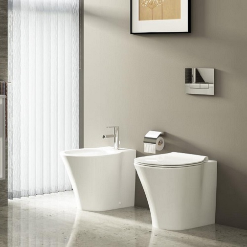 Vas WC pe pardoseala Ideal Standard Connect Air Aquablade - Back-to-Wall - Pentru rezervor incastrat 3