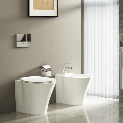 Vas WC pe pardoseala Ideal Standard Connect Air Aquablade - Back-to-Wall - Pentru rezervor incastrat 5