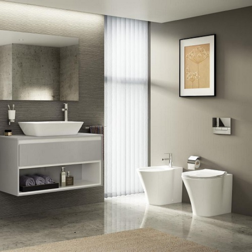 Vas WC pe pardoseala Ideal Standard Connect Air Aquablade - Back-to-Wall - Pentru rezervor incastrat 4