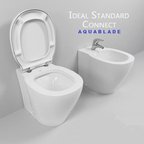 Vas WC pe pardoseala Ideal Standard Connect Aquablade - Back-to-Wall - Pentru rezervor incastrat 3