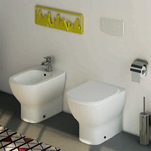 Vas WC pe pardoseala Ideal Standard Tesi Aquablade - Back-to-Wall - Pentru rezervor incastrat 5