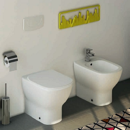 Vas WC pe pardoseala Ideal Standard Tesi Aquablade - Back-to-Wall - Pentru rezervor incastrat 4