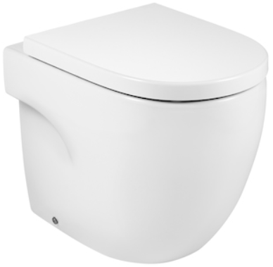 Vas WC pe pardoseala Roca Meridian - Back-to-Wall - Pentru rezervor incastrat 0