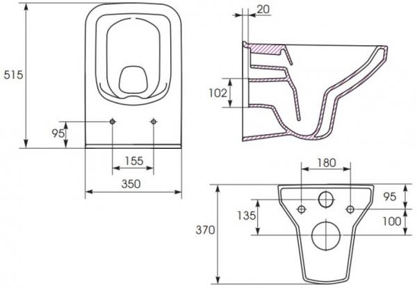 Vas WC Suspendat Cersanit Como - CleanON 14