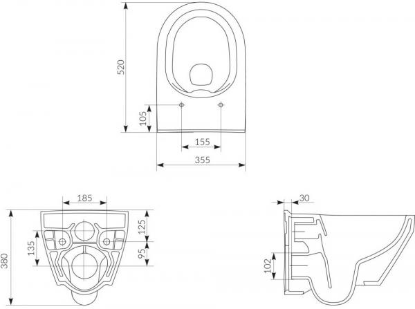 Vas WC Suspendat Cersanit Crea Oval - CleanON [15]