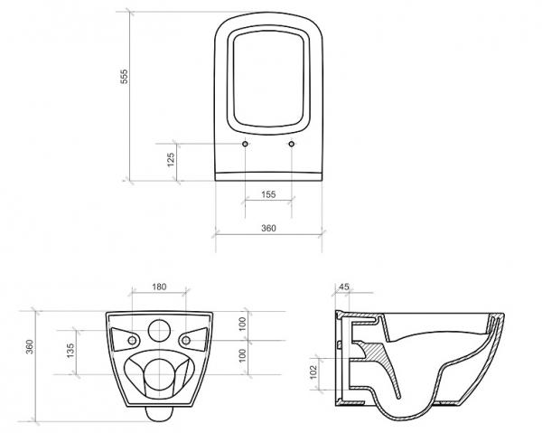 Vas WC Suspendat Cersanit Metropolitan - CleanON 4