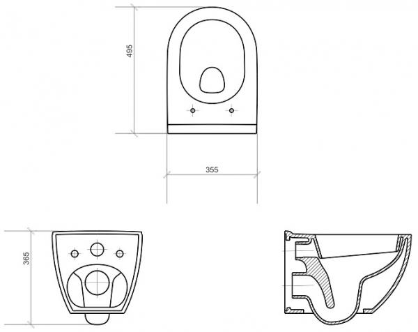 Vas WC Suspendat Cersanit Urban Harmony - CleanON 3