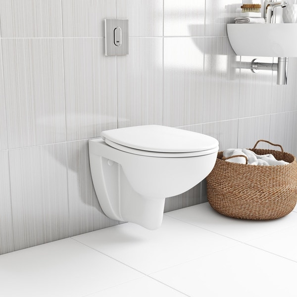 Vas WC Suspendat Grohe Bau Ceramic Rimless + Capac softclose 5