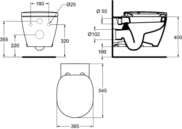 Vas WC Suspendat Ideal Standard Connect 6