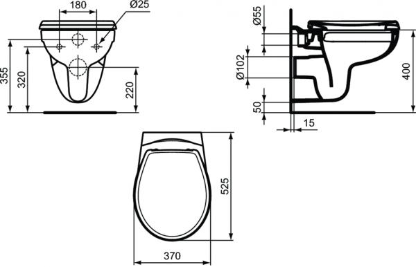 Vas WC Suspendat Ideal Standard Eurovit Rimless 2