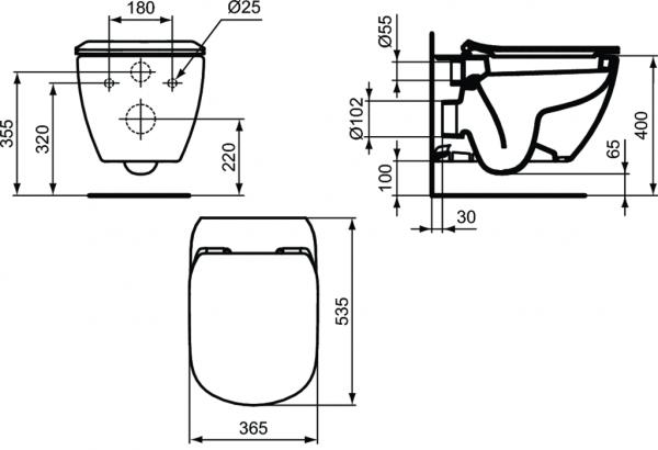 Vas WC Suspendat Ideal Standard Tesi 6