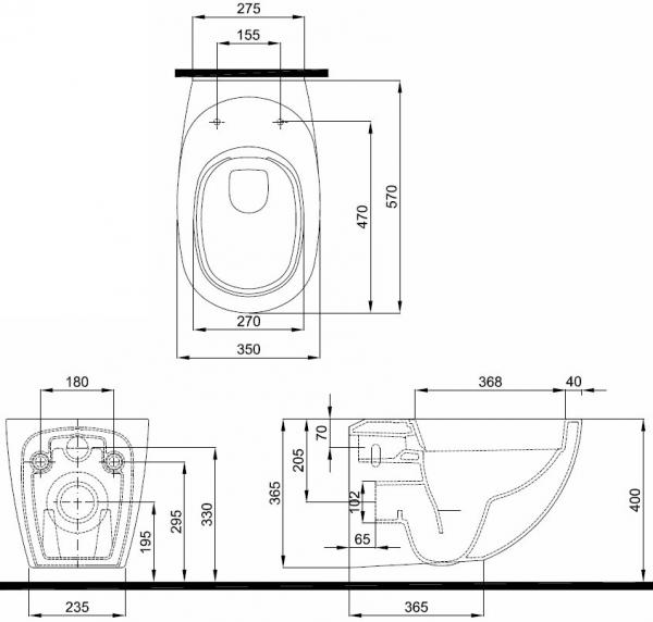 Vas WC Suspendat Kolo EGO Rimfree by Antonio Citterio 7