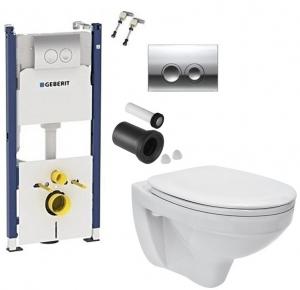 ALL IN ONE Incastrat - Geberit + Cersanit Delphi - Gata de montaj - Vas wc Suspendat Cersanit Delphi + Capac softclose + Rezervor Geberit0