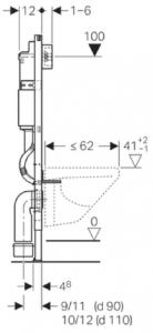 ALL IN ONE Incastrat - Geberit + Grohe + Vitra S50 RIMEX - Cu functie bideu - Gata de montaj - Vas wc Vitra S50 RIMEX cu functie bideu + Capac softclose + Rezervor Geberit + Baterie incastrata Grohe16