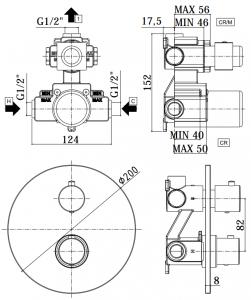 ALL IN ONE Incastrat - Geberit + Paffoni cu termostat + Vas wc Suspendat Ideal Standard Eurovit - Cu functie de bideu - Gata de montaj - Vas wc Suspendat Ideal Standard Eurovit cu functie de bideu + C14