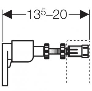 ALL IN ONE Incastrat - Geberit + Paffoni + Vitra S50 RIMEX - Cu functie bideu - Gata de montaj - Vas wc Vitra S50 RIMEX cu functie bideu + Capac softclose + Rezervor Geberit + Baterie incastrata bideu9