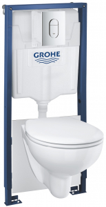 ALL IN ONE Incastrat - Grohe 4 in 1 - Rezervor Grohe, Clapeta, Vas WC si Capac WC softclose0
