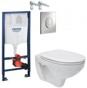 ALL IN ONE Incastrat - Grohe + Cersanit Delphi - Gata de montaj - Vas wc Suspendat Cersanit Delphi + Capac softclose + Rezervor Grohe0