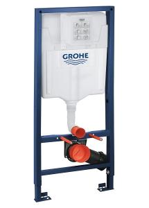 ALL IN ONE Incastrat - Grohe + Grohe + Vitra S50 RIMEX - Cu functie bideu - Gata de montaj - Vas wc Vitra S50 RIMEX cu functie bideu + Capac softclose + Rezervor Grohe + Baterie incastrata Grohe10