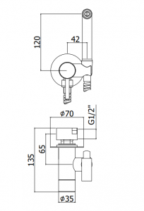 ALL IN ONE Incastrat - Ideal Standard + Ideal Standard Tesi Aquablade + Paffoni - Cu dus Igienic - Gata de montaj - Vas wc Suspendat Ideal Standard Tesi Aquablade + Capac softclose + Rezervor Ideal St8