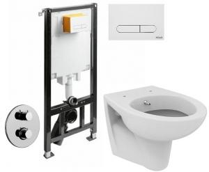 ALL IN ONE Incastrat - KOLO + Paffoni cu termostat + Vas wc Suspendat Ideal Standard Eurovit - Cu functie de bideu - Gata de montaj - Vas wc Suspendat Ideal Standard Eurovit cu functie de bideu + Capa0