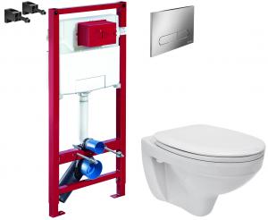 ALL IN ONE Incastrat - Schell + Cersanit Delphi - Gata de montaj - Vas wc Suspendat Cersanit Delphi + Capac softclose + Rezervor Schell0