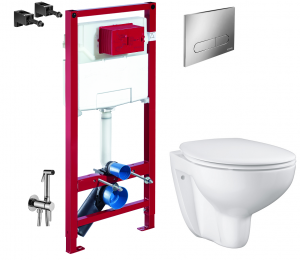 ALL IN ONE Incastrat - Schell + Grohe Bau Ceramic Rimless + Paffoni - Cu dus Igienic0